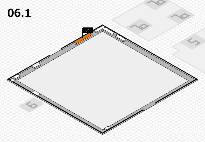interpack 2017 hall map (Hall 6, gallery): stand -01