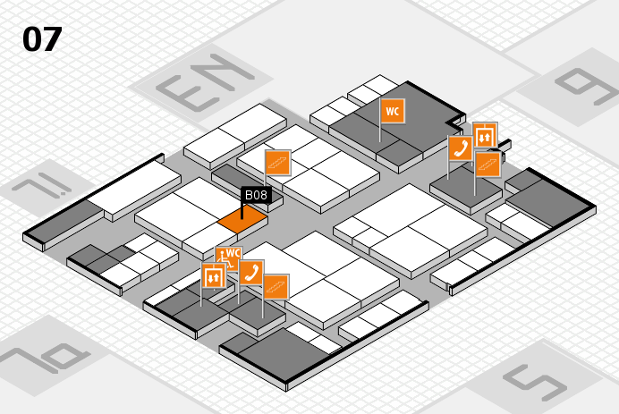 interpack 2017 hall map (Hall 7): stand B08