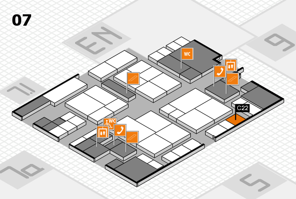 interpack 2017 hall map (Hall 7): stand C22