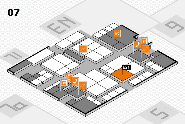 interpack 2017 hall map (Hall 7): stand B21