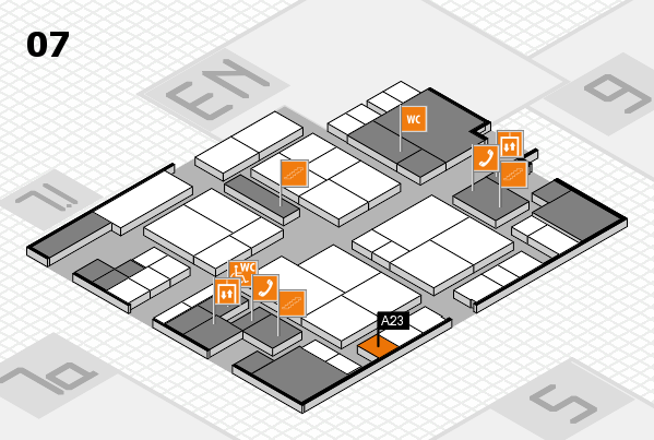 interpack 2017 hall map (Hall 7): stand A23
