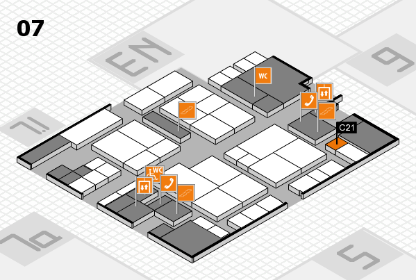 interpack 2017 hall map (Hall 7): stand C21