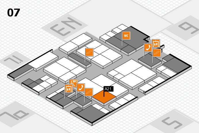 interpack 2017 hall map (Hall 7): stand A21