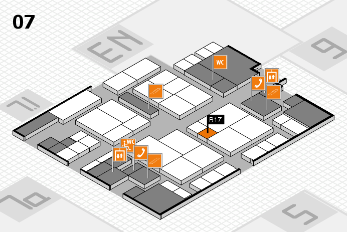 interpack 2017 hall map (Hall 7): stand B17