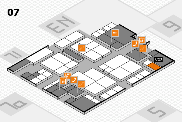 interpack 2017 hall map (Hall 7): stand C23