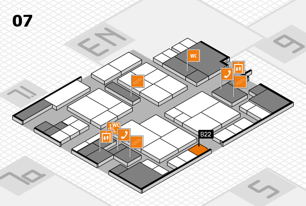 interpack 2017 hall map (Hall 7): stand B22