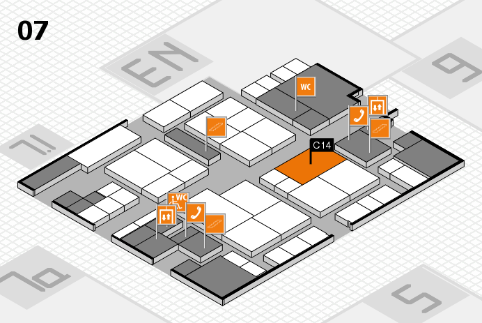 interpack 2017 hall map (Hall 7): stand C14
