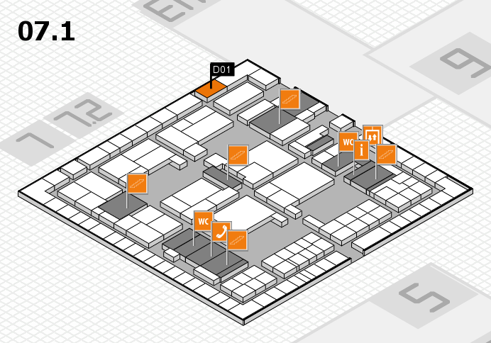 interpack 2017 hall map (Hall 7, level 1): stand D01