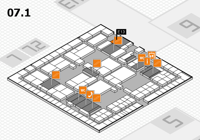 interpack 2017 hall map (Hall 7, level 1): stand E13