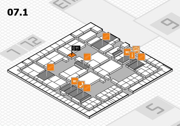 interpack 2017 Hallenplan (Halle 7, Ebene 1): Stand C11