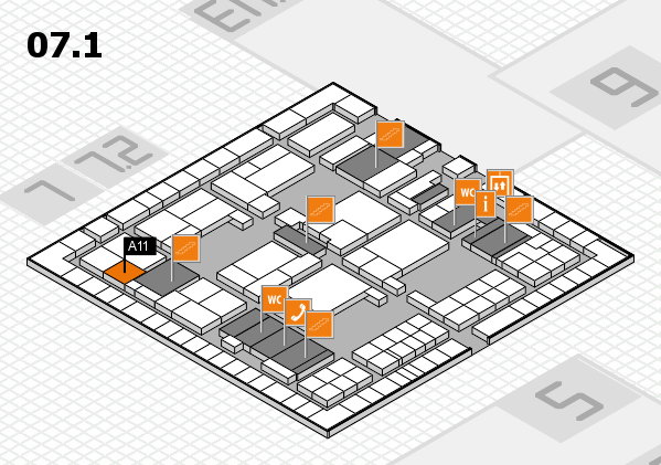 interpack 2017 hall map (Hall 7, level 1): stand A11
