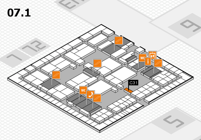 interpack 2017 hall map (Hall 7, level 1): stand C31