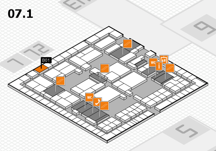 interpack 2017 hall map (Hall 7, level 1): stand B01