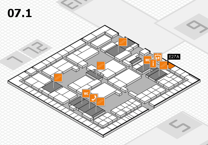 interpack 2017 hall map (Hall 7, level 1): stand E27A
