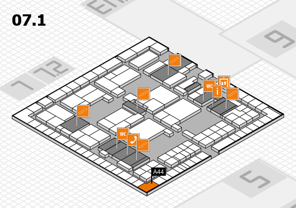 interpack 2017 hall map (Hall 7, level 1): stand A44
