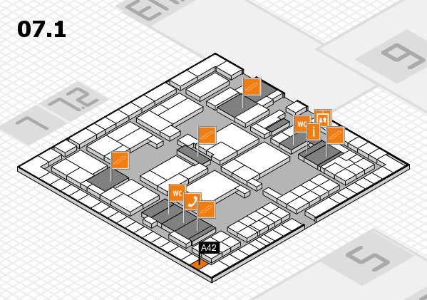 interpack 2017 hall map (Hall 7, level 1): stand A42