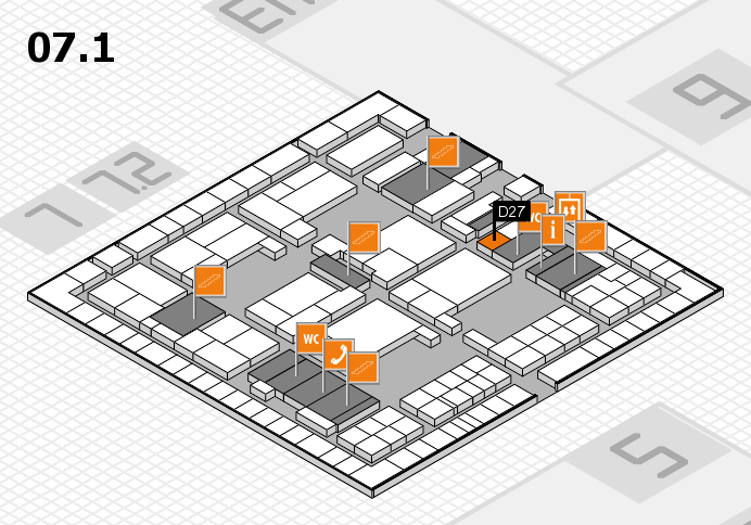 interpack 2017 hall map (Hall 7, level 1): stand D27