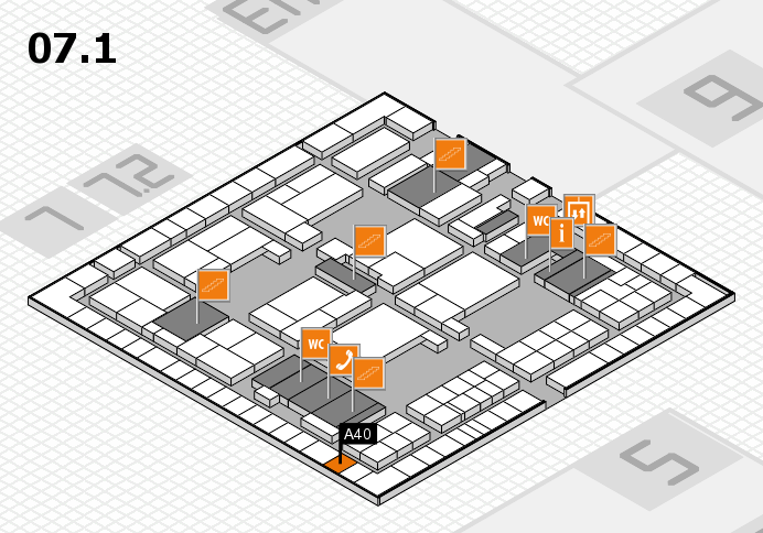 interpack 2017 hall map (Hall 7, level 1): stand A40