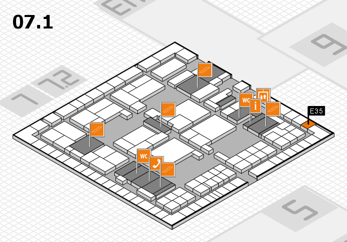 interpack 2017 hall map (Hall 7, level 1): stand E35