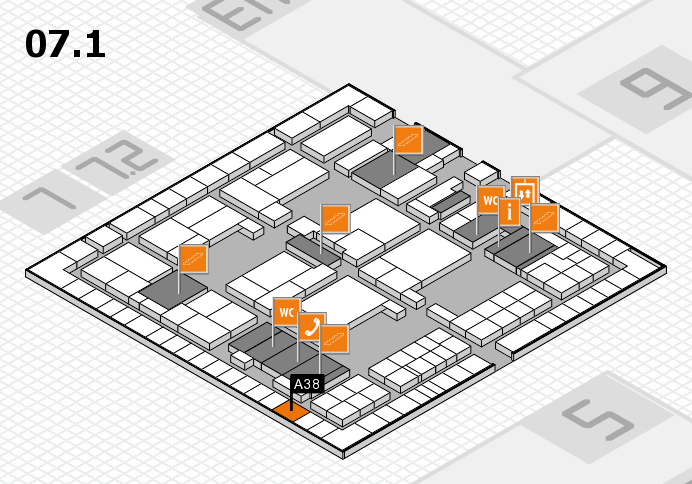 interpack 2017 hall map (Hall 7, level 1): stand A38
