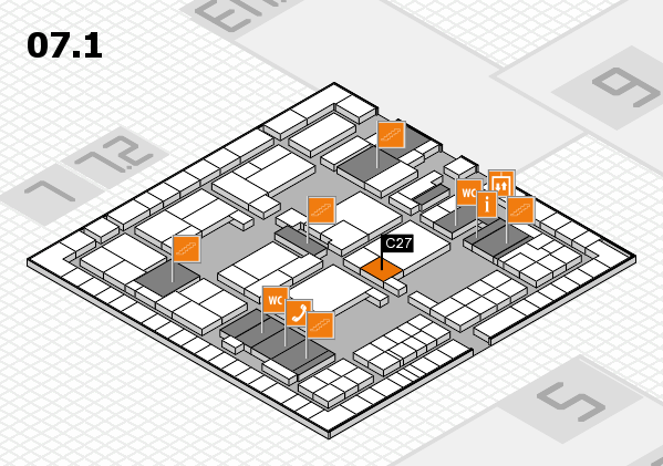interpack 2017 hall map (Hall 7, level 1): stand C27