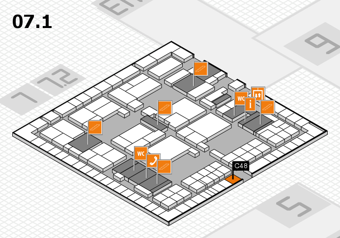 interpack 2017 hall map (Hall 7, level 1): stand C48
