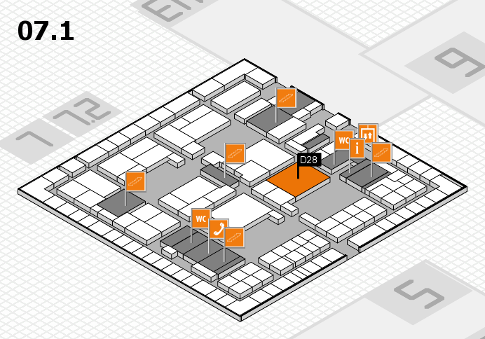 interpack 2017 hall map (Hall 7, level 1): stand D28