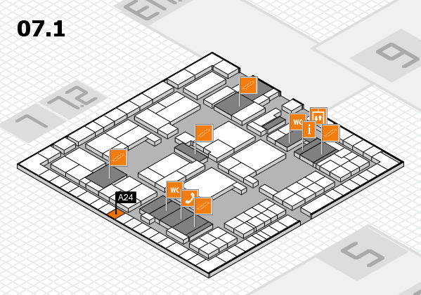 interpack 2017 hall map (Hall 7, level 1): stand A24