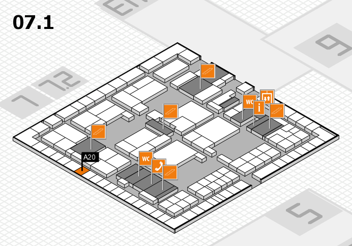 interpack 2017 hall map (Hall 7, level 1): stand A20