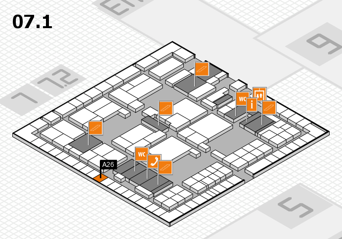 interpack 2017 hall map (Hall 7, level 1): stand A26