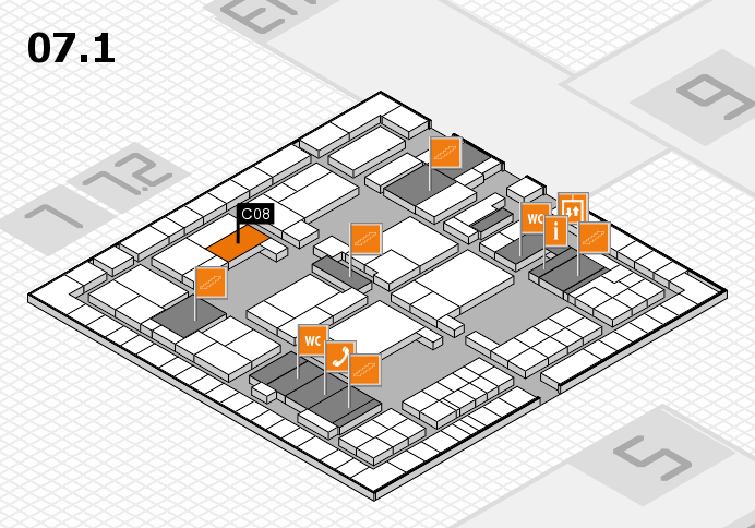 interpack 2017 hall map (Hall 7, level 1): stand C08