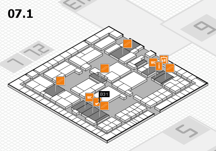 interpack 2017 hall map (Hall 7, level 1): stand B31