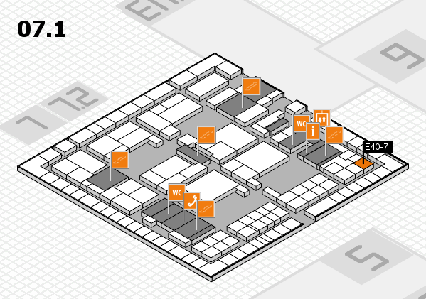 interpack 2017 hall map (Hall 7, level 1): stand E40-7