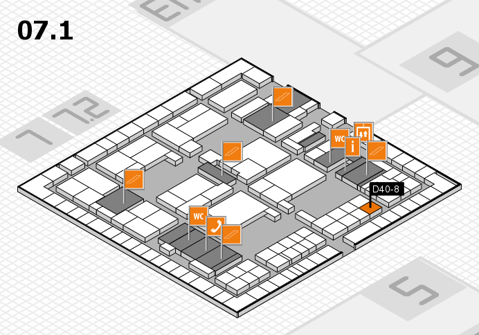 interpack 2017 hall map (Hall 7, level 1): stand D40-8