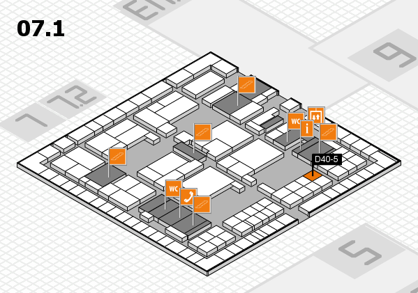 interpack 2017 hall map (Hall 7, level 1): stand D40-5