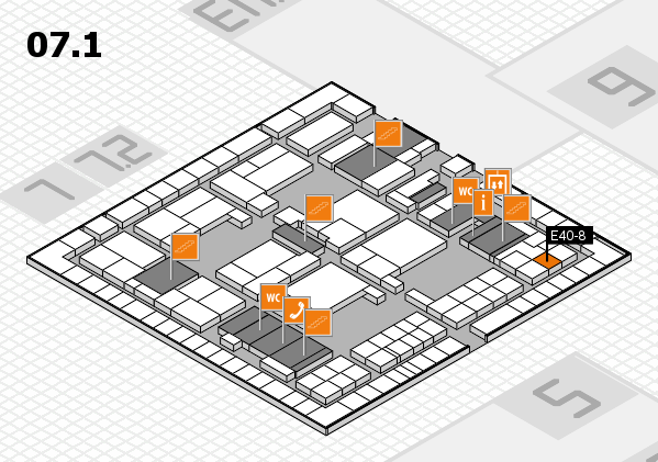 interpack 2017 hall map (Hall 7, level 1): stand E40-8