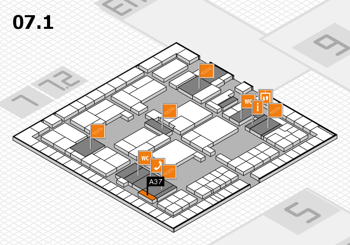 interpack 2017 hall map (Hall 7, level 1): stand A37