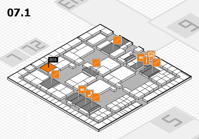 interpack 2017 hall map (Hall 7, level 1): stand B05