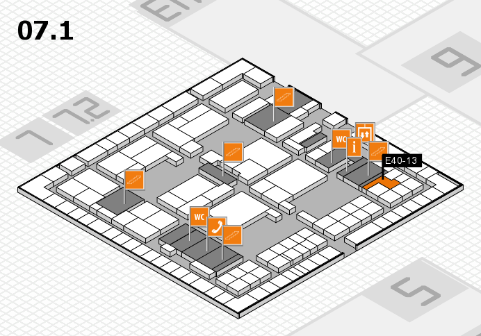interpack 2017 hall map (Hall 7, level 1): stand E40-13
