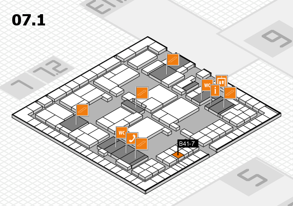 interpack 2017 hall map (Hall 7, level 1): stand B41-7