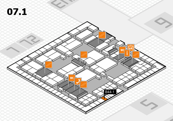 interpack 2017 hall map (Hall 7, level 1): stand B44-1