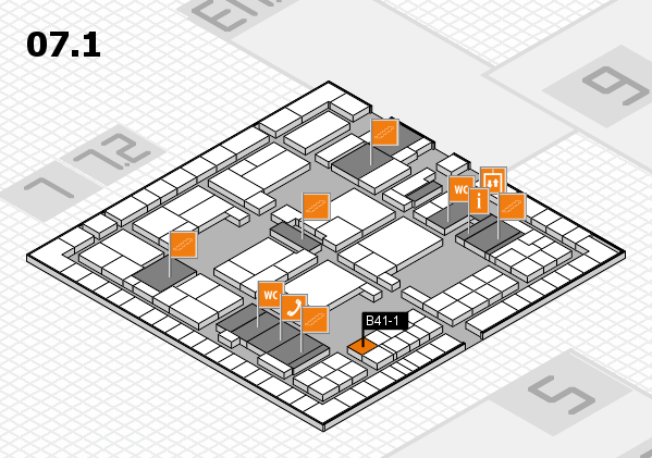 interpack 2017 hall map (Hall 7, level 1): stand B41-1