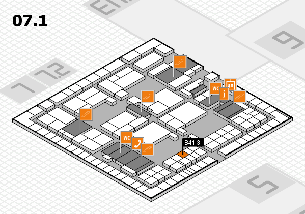 interpack 2017 hall map (Hall 7, level 1): stand B41-3