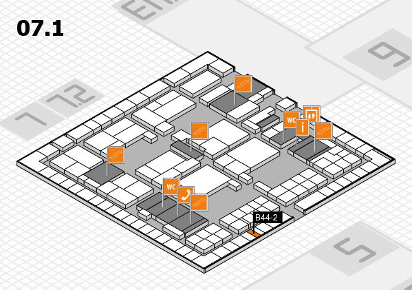 interpack 2017 hall map (Hall 7, level 1): stand B44-2