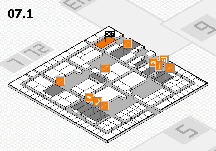 interpack 2017 hall map (Hall 7, level 1): stand D07
