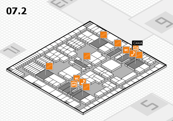 interpack 2017 hall map (Hall 7, level 2): stand C44A