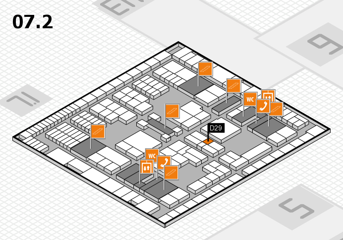 interpack 2017 hall map (Hall 7, level 2): stand D29