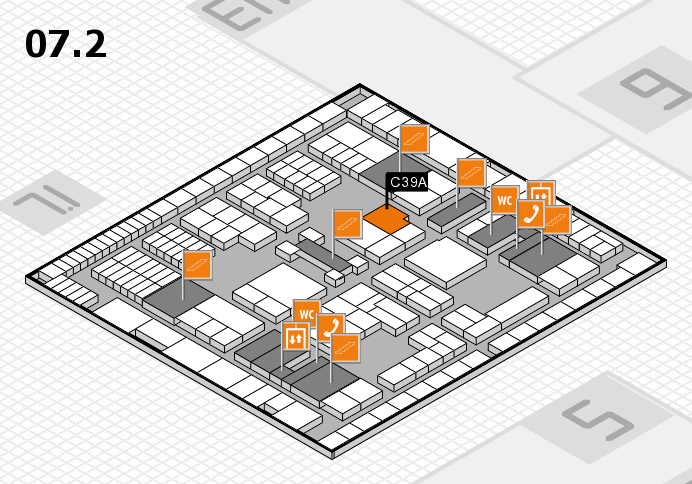 interpack 2017 hall map (Hall 7, level 2): stand C39A