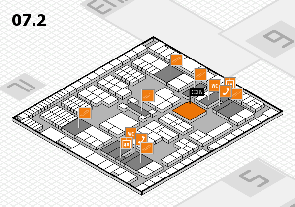 interpack 2017 hall map (Hall 7, level 2): stand C38