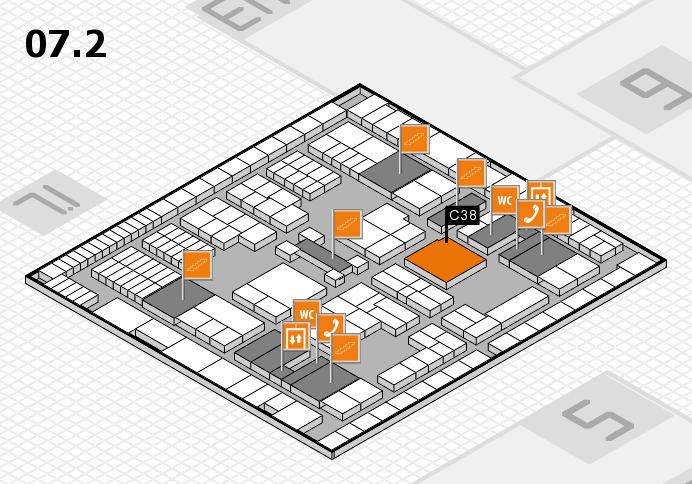 interpack 2017 Hallenplan (Halle 7, Ebene 2): Stand C38